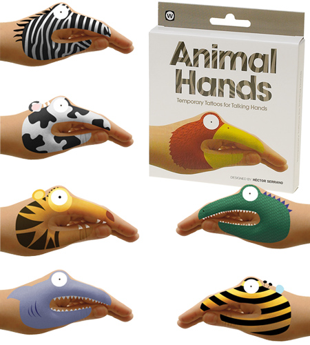 giveaway animal hand tattoos