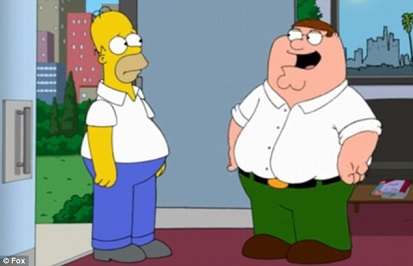 homer meets peter griffin